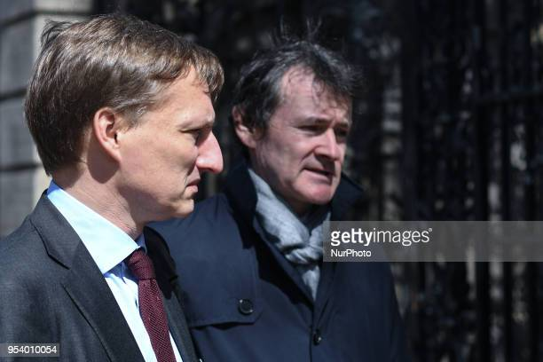 Dr Jerome Coffee the Director of the National Cancer Control Programme and Paul Connors HSE National Director of Communications arrive at Leinster...