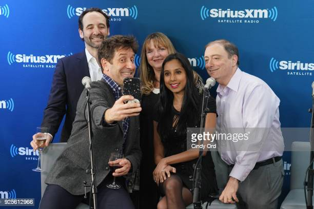 Dr Jess Shatkin Dr Billy Goldberg Dr Roshini Rajapaksa and Dr Ira Breite take a selfie as SiriusXM and NYU Langone Health celebrate the 10th year...