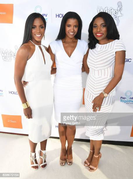 Dr Jessica Shepherd actress Renee Elise Goldsberry and Tanika Gray Valbrun at 'The Immortal Life Of Henrietta Lacks' Viewing Panel Discussion with...
