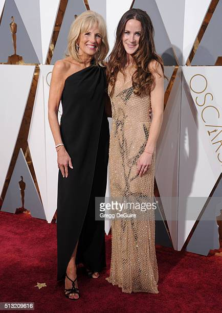 Dr Jill Biden and daughter Ashley Biden arrive at the 88th Annual Academy Awards at Hollywood Highland Center on February 28 2016 in Hollywood...