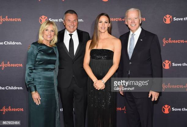 Dr Jill Biden CEO Bvlgari JeanChristophe Babin actress and Save the Children trustee Jennifer Garner and former Vice President of the United States...