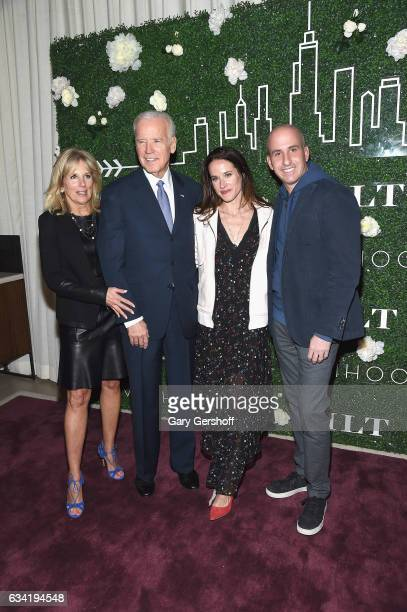 Dr Jill Biden Livelihood founder Ashley Biden former Vice President Joe Biden and Gilt Saks OFF 5TH President Jonathan Greller attend Gilt x...