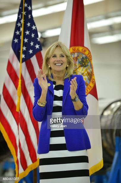 Dr Jill Biden visits Broward College Aviation Institute and addresses a group of educators to discuss the recent selection of Broward College to lead...