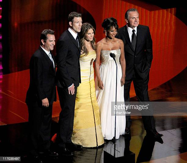 Dr Jim Sears Dr Travis Stork Jillian Michaels Dr Lisa Masterson and Dr Andrew Ordon speak onstage during the 38th Annual Daytime Entertainment Emmy...