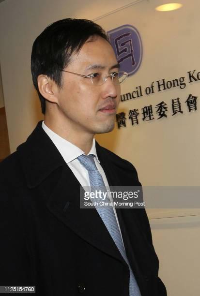 Dr Jimmy Mak Holeung arrives Medical Council disciplinary hearing at Hong Kong Academy of Medicine in Aberdeen 20FEB11