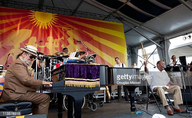 Dr. John and Dave Bartholomew perform at the 2011 New Orleans Jazz & Heritage Festival presented by Shell at the Fair Grounds Race Course on May 1,...