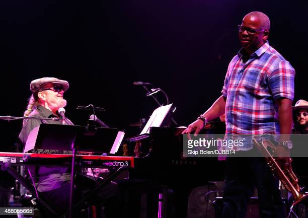 Dr John and Terence Blanchard rehearse for The Musical Mojo of Dr John A Celebration of Mac His Music at the Saenger Theatre on May 3 2014 in New...