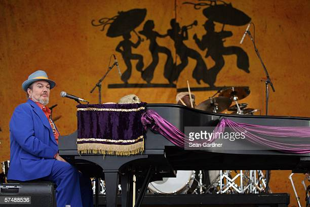 Dr John performs at the New Orleans Jazz Heritage Festival April 28 2006 in New Orleans Louisiana