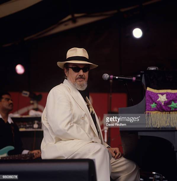 Dr. John performs on stage at the New Orleans Jazz and Heritage Festival in New Orleans, Louisiana on April 25, 1999.