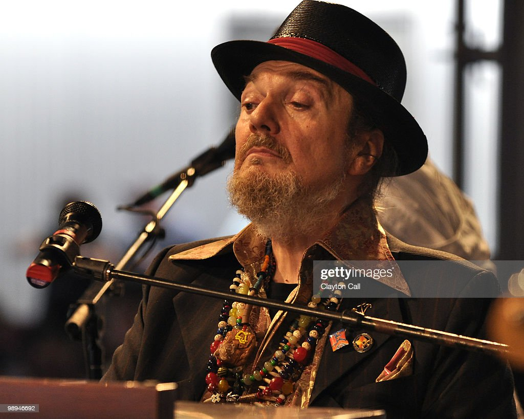 Dr John performs with Davell Crawford in the Blues Tent on day two of New Orleans Jazz & Heritage Festival on April 24, 2010 in New Orleans, Louisiana.