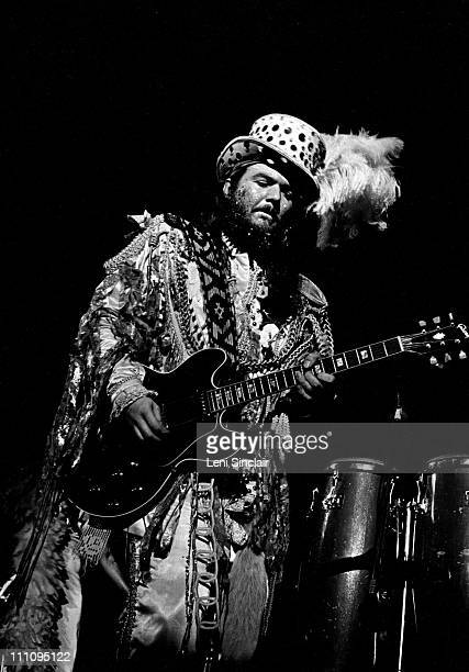 Dr John plays guitar at the Ford Auditorium in 1973 in 1972 in Detroit Michigan