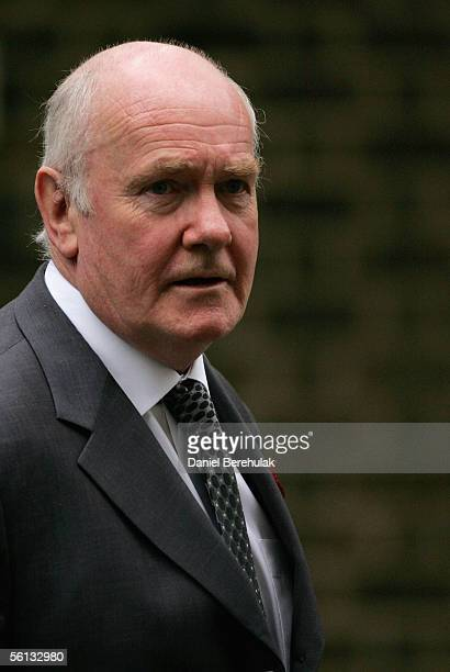 Dr John Reid Britain's Secretary of State for Defence leaves 10 Downing Street on November 10 2005 in London England Mr Blair met his cabinet after a...