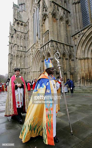 Dr John Sentamu the New Archbishop of York walks outside York Minster on November 30 2005 in York England The Church of England celebrated the...