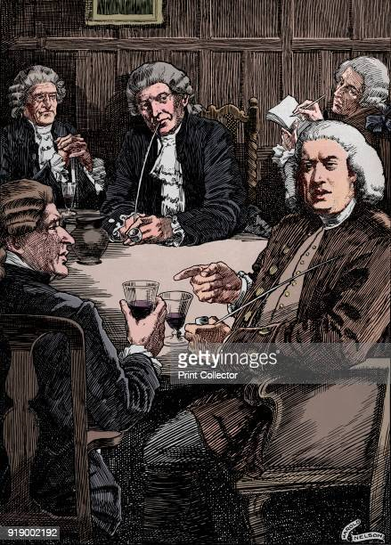 Dr Johnson Discoursing With His Friends' c1900 Samuel Johnson referred to as Dr Johnson an English writer poet essayist moralist literary critic...