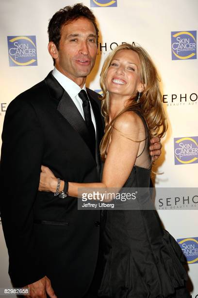 Dr Jonathan Levine and his wife Stacey Levine attend the 2008 Skin Cancer Foundation Skin Sense Award Gala at The Pierre Hotel on September 23 2008...