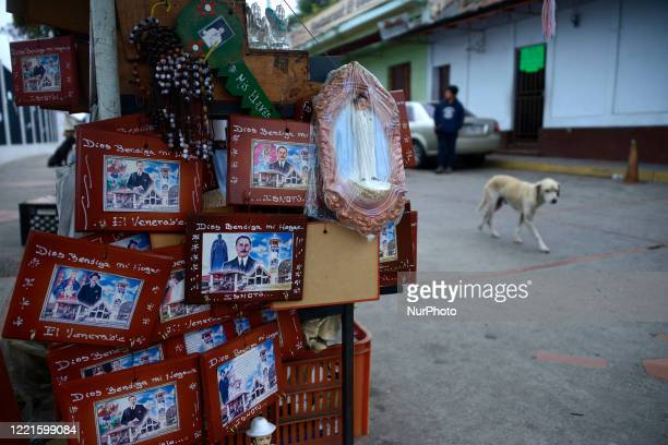 Dr José Gregorio Hernandez's images and relics are sold outside the shrine located in Isnotu Venezuela on February 25 2016 He was known as quotthe...