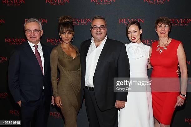 Dr Jose Baselga PhysicianinChief and Chief Medical Officer of Memorial Sloan Kettering Revlon Global Brand Ambassador Halle Berry Revlon CEO Lorenzo...