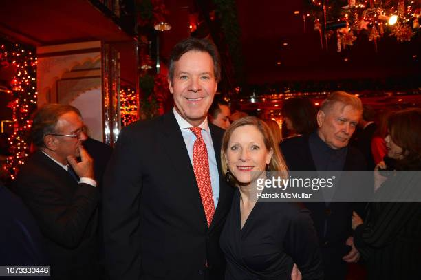 Dr Joseph Conway and Peggy Conway attend George Farias Anne Jay McInerney Host A Holiday Party at The Doubles Club on December 13 2018 in New York...
