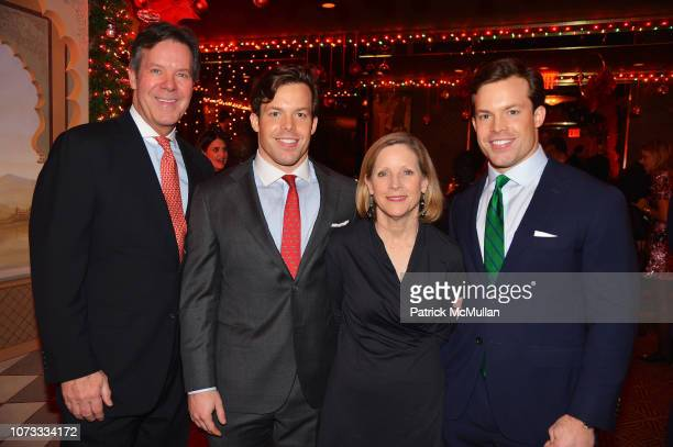 Dr Joseph Conway Jackson Conway Peggy Conway and Christian Conway attend George Farias Anne Jay McInerney Host A Holiday Party at The Doubles Club on...
