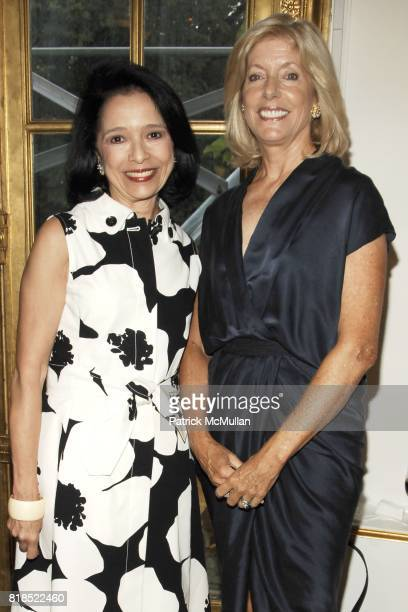 Dr Joyce Brown and Liz Peek attend The Couture Council Summer Party at The French Embassy on August 17 2010 in New York City