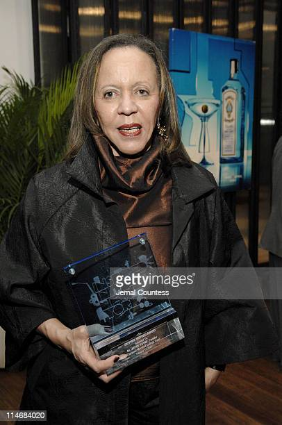 Dr Joyce Payne founder of the Thurgood Marshall College Fund with an award presented her by Bombay Sapphire for her work with Thurgood Marshall...