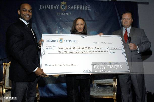 Dr Joyce Payne founder of the Thurgood Marshall College Fund with with Monsell Darvilee Vice President of Bombay Sapphire and Dwayne Ashley President...