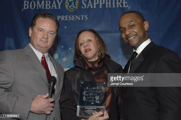 Dr Joyce Payne founder of the Thurgood Marshall College Fund with Monsell Darvilee Vice President of Bombay Sapphire and Dwayne Ashley President of...