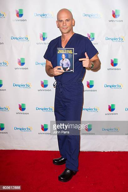 Dr Juan Rivera is on the set of Univisions Despierta America at Univision Studios on September 14 2016 in Miami Florida