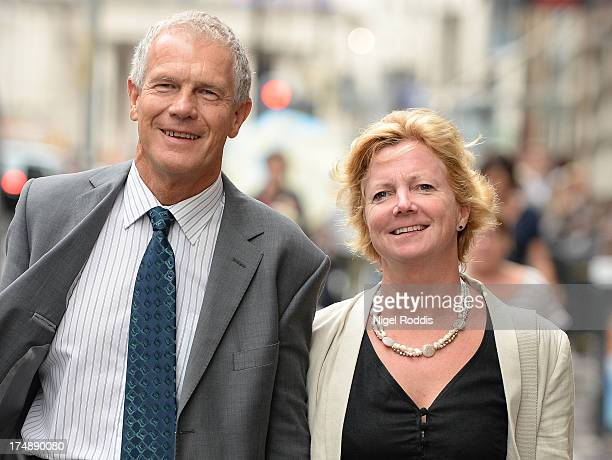 Dr Judith Ames arrives with her fiancee Robert Owens at a Medical Practitioners Tribunal Service hearing where she is charged with misconduct on July...