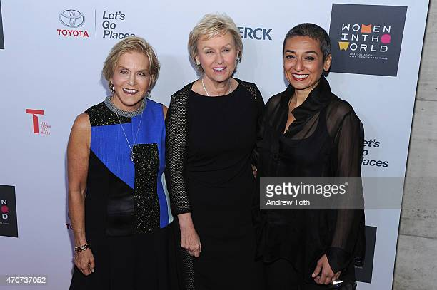 Dr Judith Rodin Tina Brown and Zainab Salbi attend the Women In World Summit at the David H Koch Theater at Lincoln Center on April 22 2015 in New...