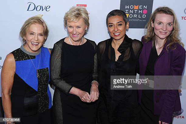 Dr Judith Rodin Tina Brown Zainab Salbi and Alyse Nelson attend the Women In World Summit at the David H Koch Theater at Lincoln Center on April 22...