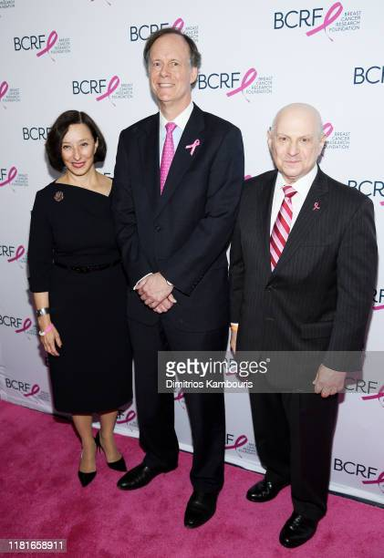 Dr Judy Garber William G Kaelin and Dr Larry Norton attend the Breast Cancer Research Foundation New York symposium awards luncheon on October 17...