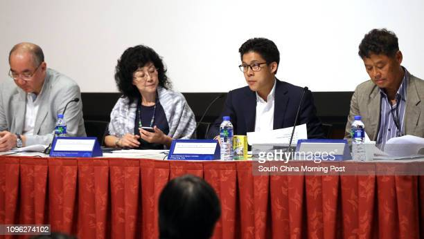 Dr. Julian Chang, Chief Medical Officer; Vivien Lau, Headquarters Official; Kenneth Fok Kai-kong, Chef de Mission; and Ronnie Wong, Hon. Secretary...