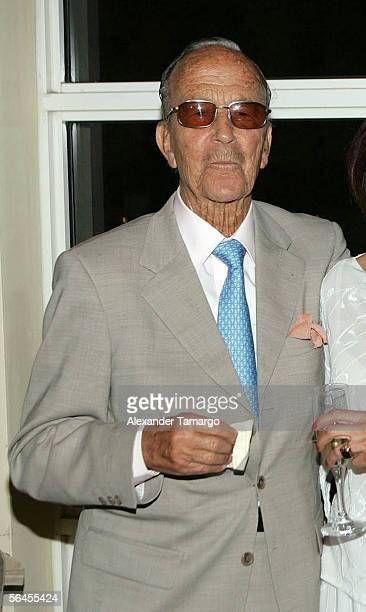 Dr. Julio Iglesias Puga poses at Carlos Iglesias' 60th birthday celebration on April 30, 2005 at the Ocean Club in Key Biscayne, Florida. Puga,...