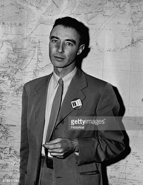 Dr Julius Robert Oppenheimer chairman of the Advisory Committee of the Atomic Energy Commission