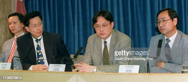Dr K H Mak Consultant Department of Health Dr T A Saw Deputy Director of Health Dr K M Choy Executive Manager Hospital Authority and Dr C B Chow...