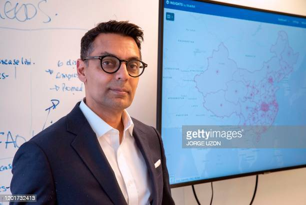 Dr Kamran Khan founder and chief executive of Torontobased BlueDot poses during an interview at his office in Toronto Canada on February 14 2020 On...
