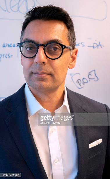 Dr. Kamran Khan, founder and chief executive of Toronto-based BlueDot poses during an interview at his office in Toronto, Canada on February 14,...