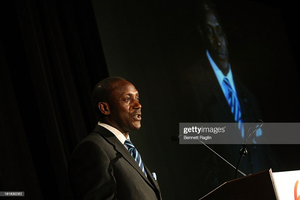 Dr. Kandeh K. Yumkella speaks during the Africa-America Institute 60th Anniversary Awards Gala at New York Hilton on September 25, 2013 in New York City.
