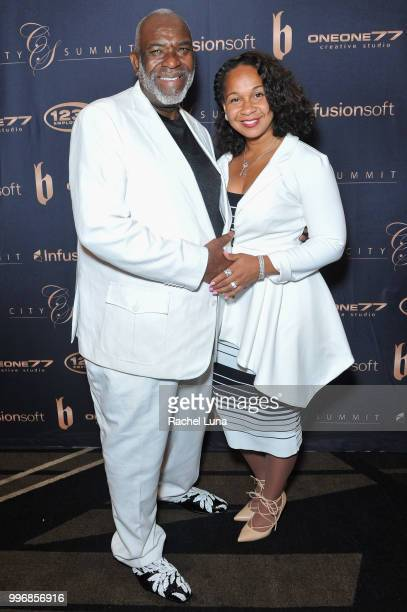 Dr Kara and James Dentley of NBC University attend City Summit Wealth Mastery And Mindset Edition afterparty at Allure Banquet Catering on July 11...
