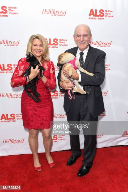 Dr Karen Halligan and Joey Herrick attend ALS Golden West Chapter Hosts Champions For Care And A Cure at The Fairmont Miramar Hotel Bungalows on...