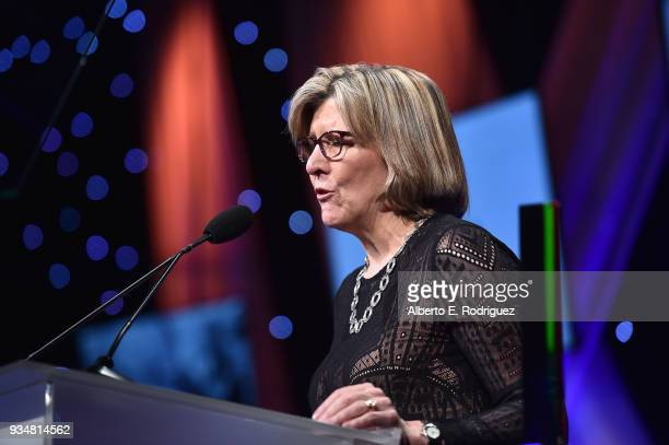 Dr Karen Lamp attends the Venice Family Clinic's 36th Annual Silver Circle Gal at The Beverly Hilton Hotel on March 19 2018 in Beverly Hills...