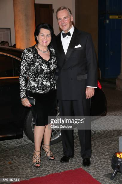 Dr KarlJosef 'Kajo' Neukirchen and his wife Erika Neukirchen during the 80th birthday party of Roland Berger at Cuvillies Theatre on November 25 2017...