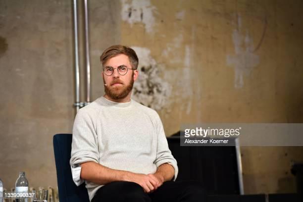 "Dr. Karsten Pufahl speaks during the ""Fashion Open Studio x MBFW"" Talk at the Mercedes-Benz Fashion Week Berlin September 2021 at Kraftwerk Mitte on..."