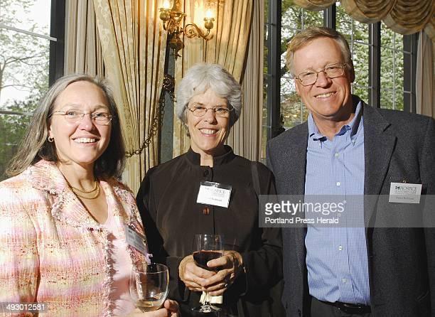Dr Katherine Pope left a member of the HSM Board Elinor Redmond a volunteer with HSM and her husband Daniel Redmond of Cape Elizabeth Hospice of...