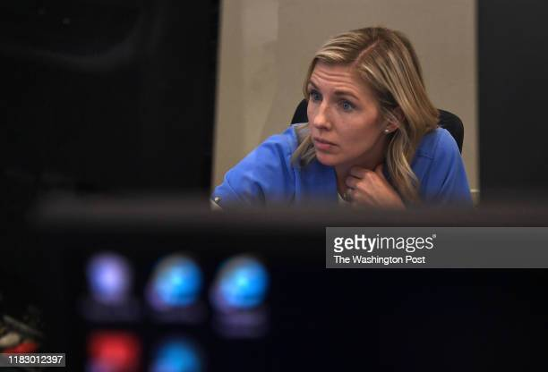 Dr Katie DeJong is intense as she guides members of an ER staff in Texas through a difficult intubation procedure on a patient on October 16 2019 The...