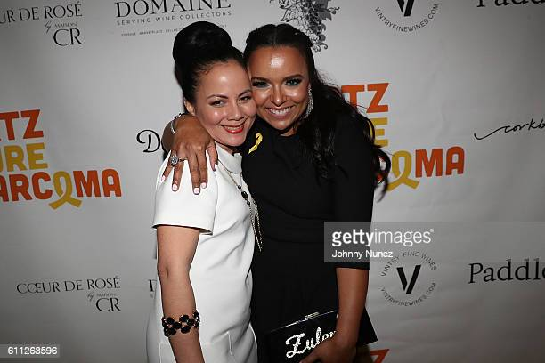 Dr Keila Torres and Zulema Arroyo attend 2nd Annual Artz Cure Sarcoma Benefit Auction at Corkbuzz Restaurant Wine Bar on September 28 2016 in New...