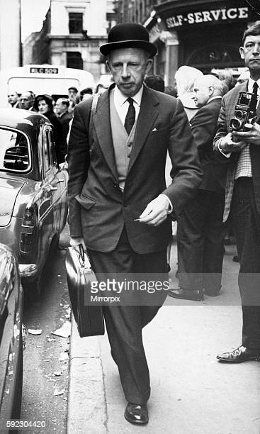 Dr Keith Simpson arriving at the scene of a crime in Brewer Street Soho 7th October 1963
