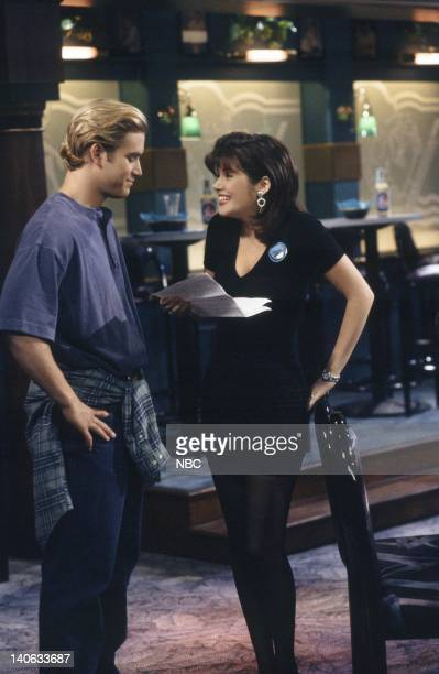 YEARS 'Dr Kelly' Episode 10 Air Date Pictured MarkPaul Gosselaar as Zack Morris Tiffani Thiessen as Kelly Kapowski Photo by Alice S Hall/NBCU Photo...