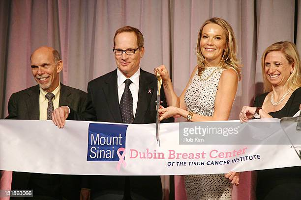 Dr Kenneth L Davis Glenn R Dubin Dr Eva AnderssonDubin and Dr Elisa Port ribbon cutting at the opening of Dubin Breast Center at the Tisch Cancer...